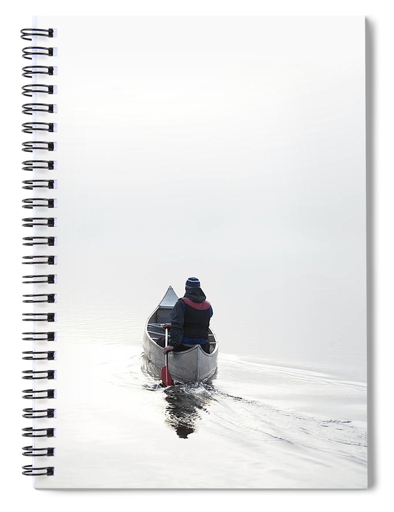 Scenics Spiral Notebook featuring the photograph Kayaking In The Morning Mist by Ross Woodhall