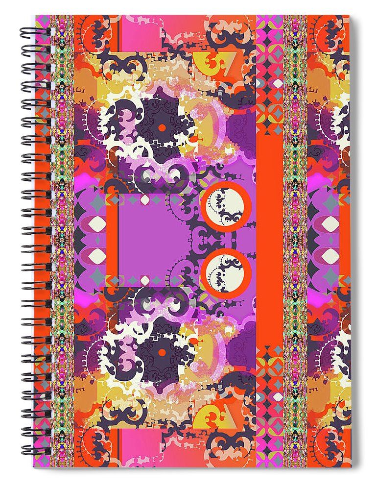 Hot Pink Spiral Notebook featuring the digital art Kelly by Ceil Diskin