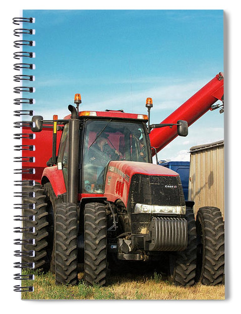 Tractor Spiral Notebook featuring the photograph Kernels Of Gold by Todd Klassy