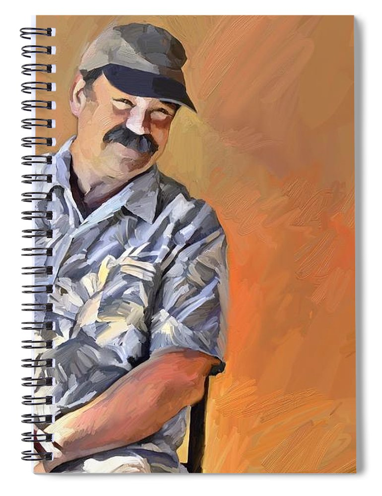 Portrait Spiral Notebook featuring the digital art Kevin by Scott Waters
