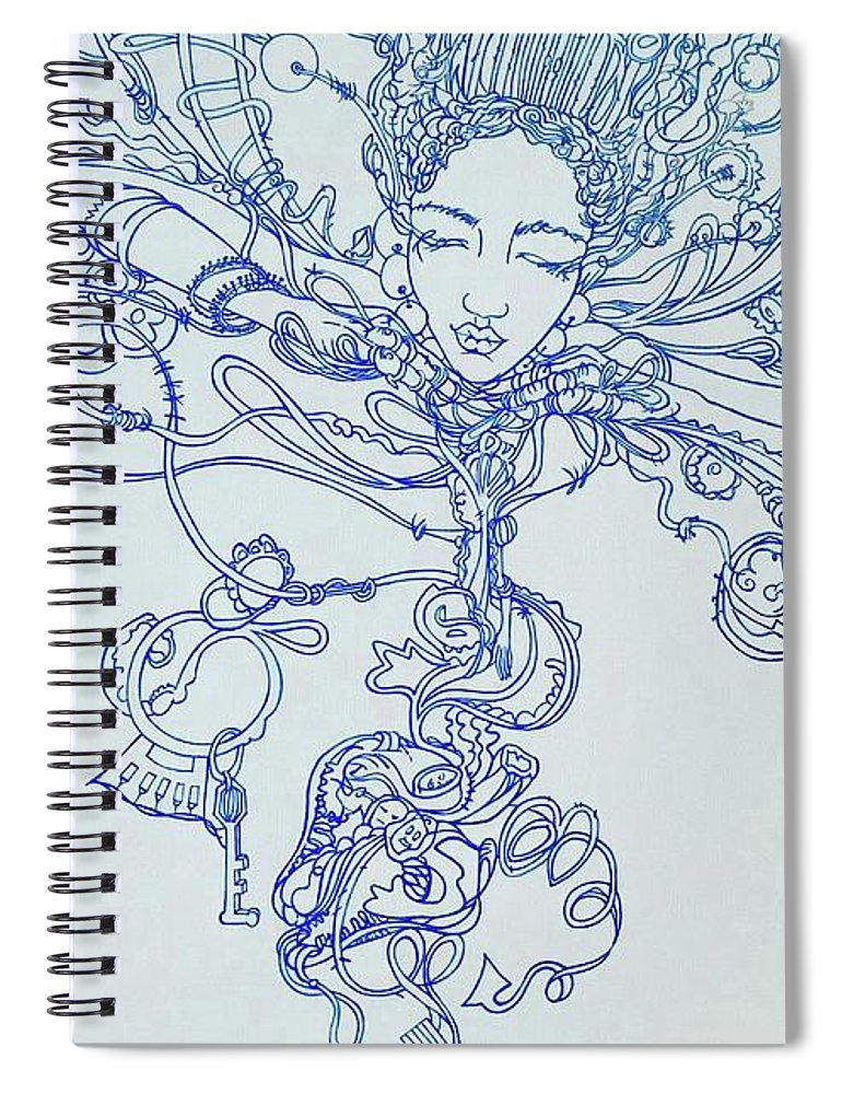 Spiral Notebook featuring the painting Keys To The Garden by Judy Henninger