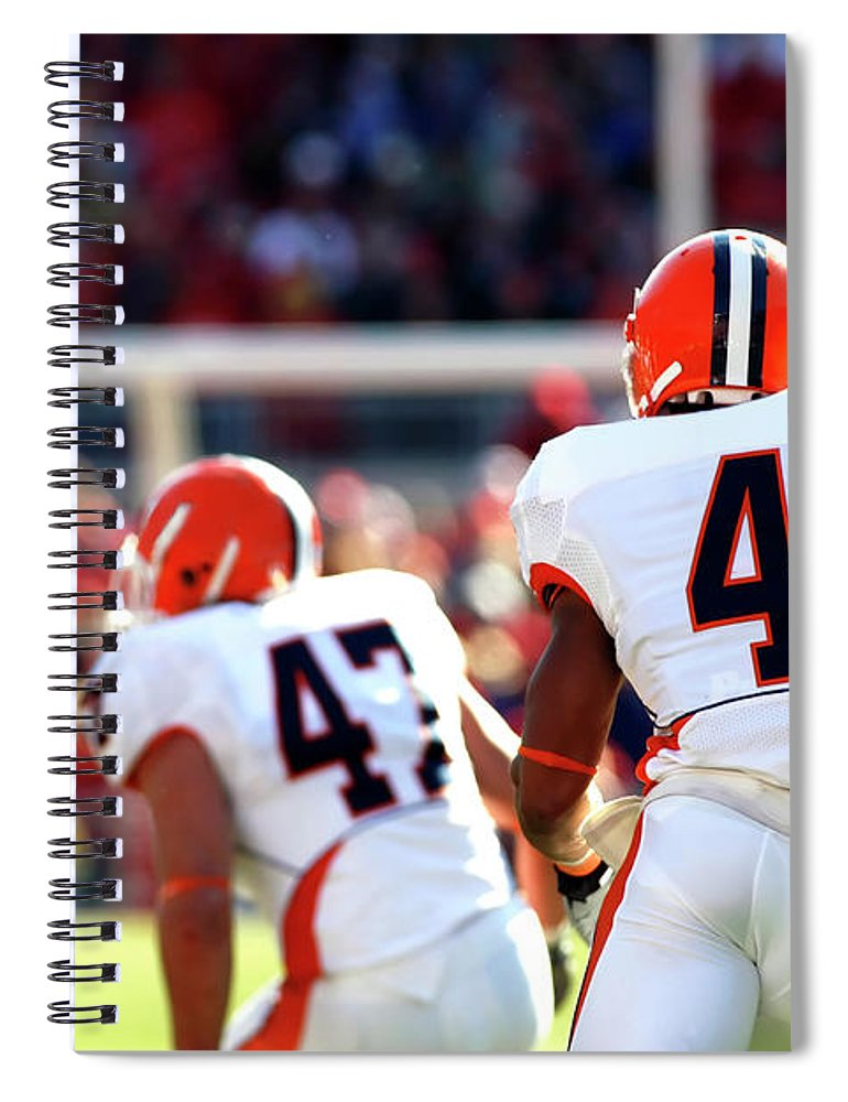 American Football Uniform Spiral Notebook featuring the photograph Kickoff Return by Filo