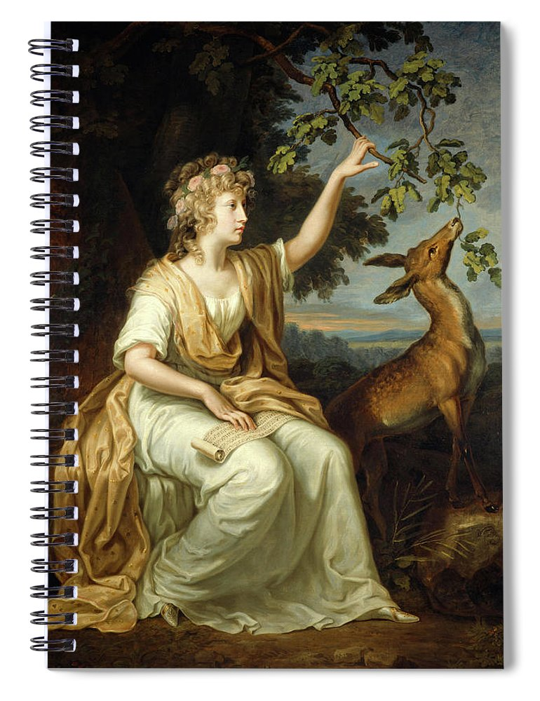 Johann Wilhelm Tischbein Spiral Notebook featuring the painting Lady Charlotte Campbell by Johann Wilhelm Tischbein