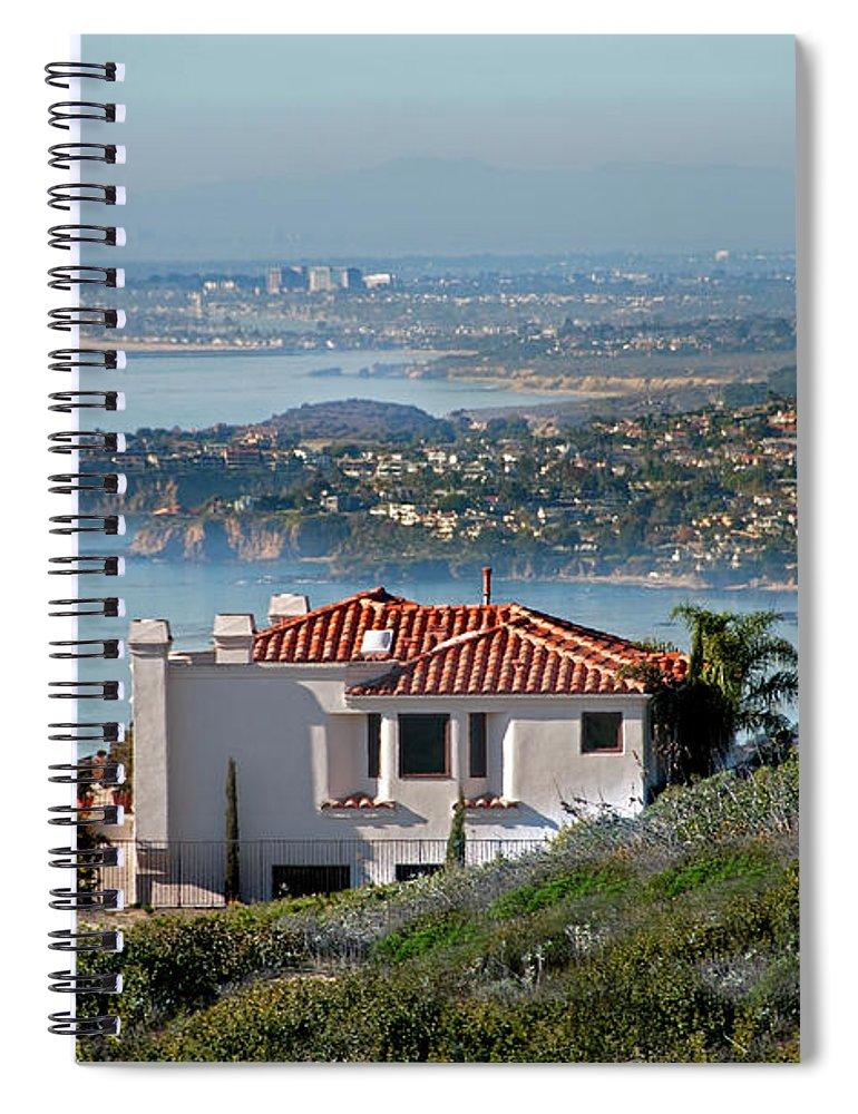 Laguna Beach Spiral Notebook featuring the photograph Laguna Beach Hilltop Homes by Mitch Diamond