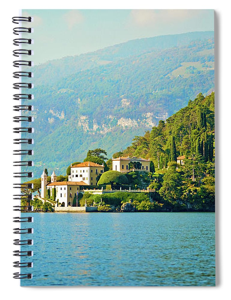 Scenics Spiral Notebook featuring the photograph Lake Como Scenic by Anouchka