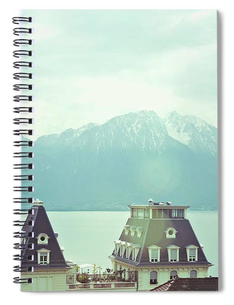 Scenics Spiral Notebook featuring the photograph Lake Geneva, Lausanne, Switzerland by Chrispecoraro