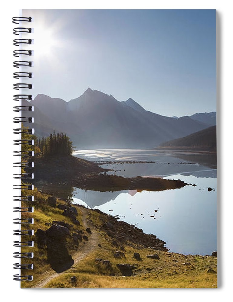 Clear Sky Spiral Notebook featuring the photograph Lake Maligne - Jasper National Park by Ingmar Wesemann