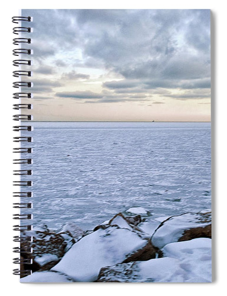 Tranquility Spiral Notebook featuring the photograph Lake Michigan by By Ken Ilio