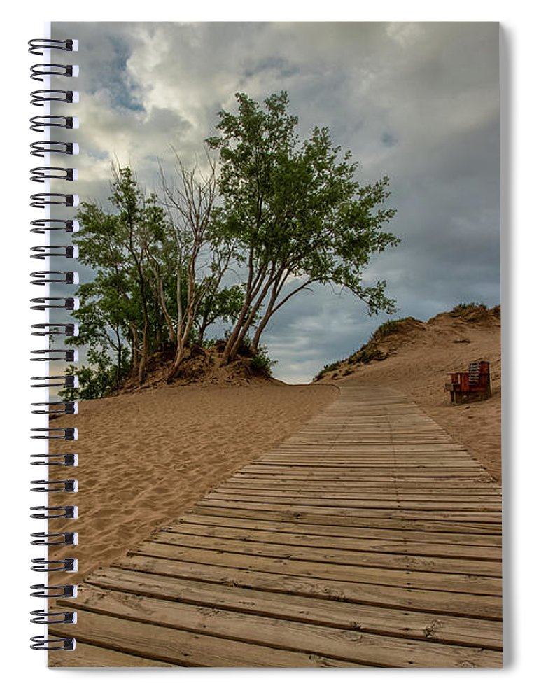 Sleeping Spiral Notebook featuring the photograph Lake Michigan Overlook 4 by Heather Kenward