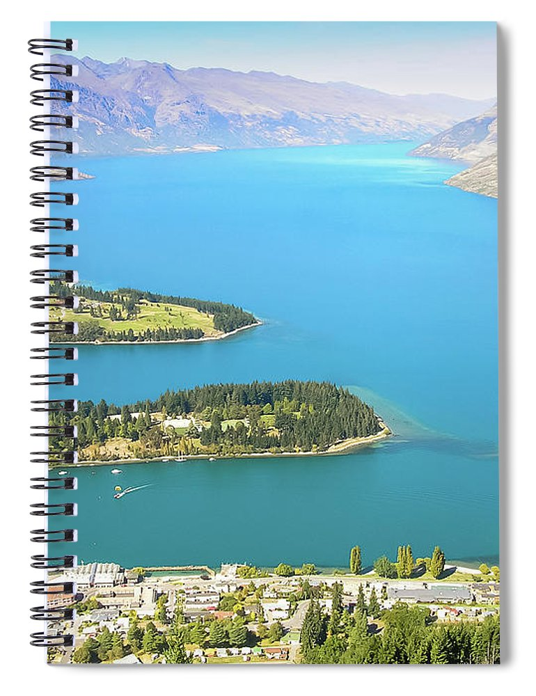 Scenics Spiral Notebook featuring the photograph Lake Wakatipu by Steve Oldham