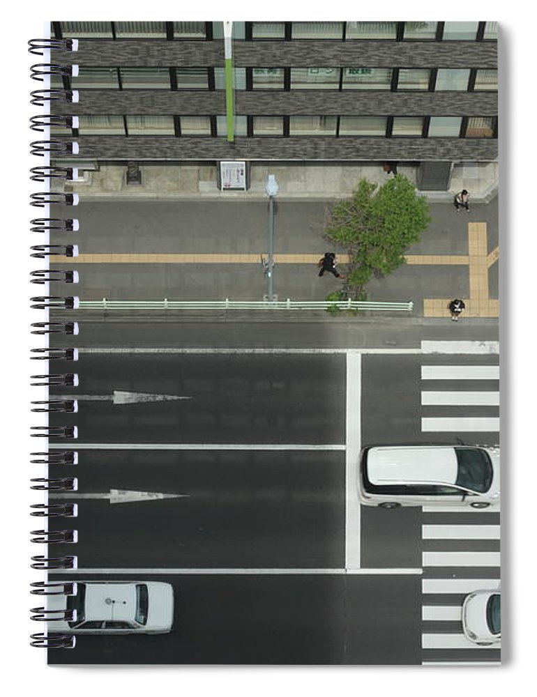 Hokkaido Spiral Notebook featuring the photograph Land Vehicles Crossing Pedestrian by Iyoupapa