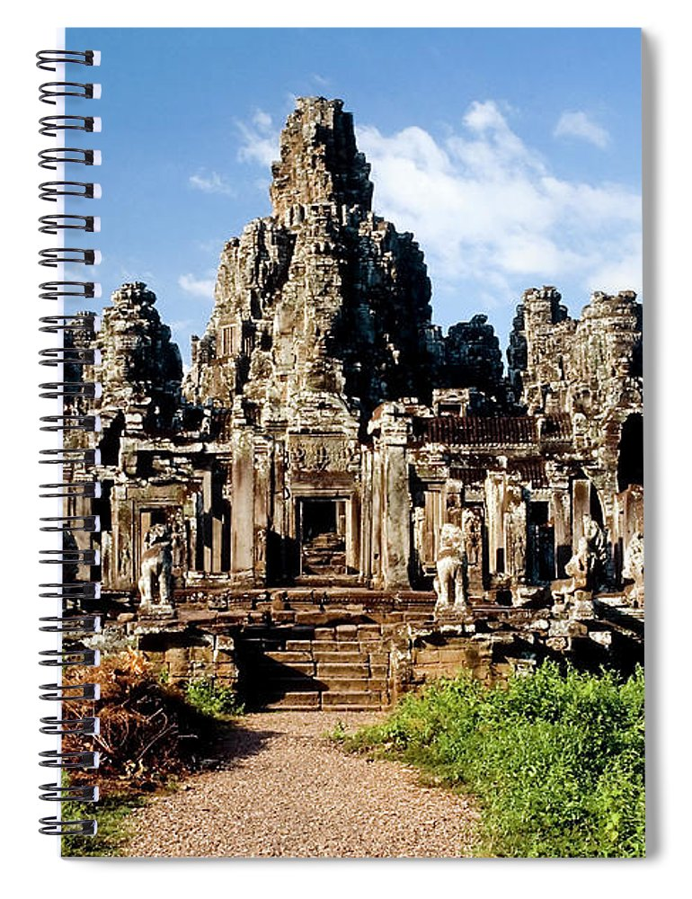 Scenics Spiral Notebook featuring the photograph Landscape Photo Of Bayon Temple In by Laughingmango