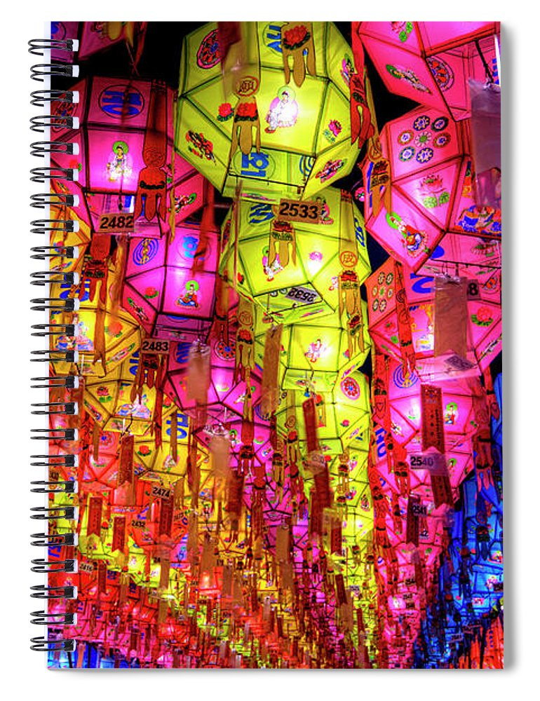 Tranquility Spiral Notebook featuring the photograph Lanterns Hanging by Jason Teale Photography Www.jasonteale.com