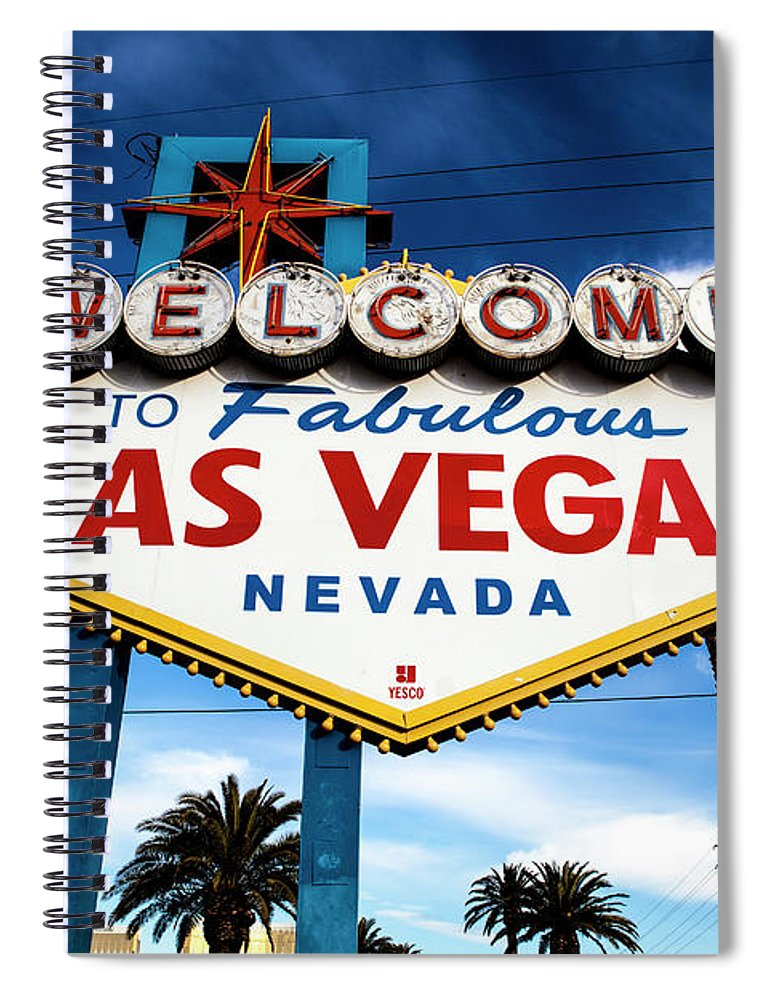 Outdoors Spiral Notebook featuring the photograph Las Vegas by Aluma Images