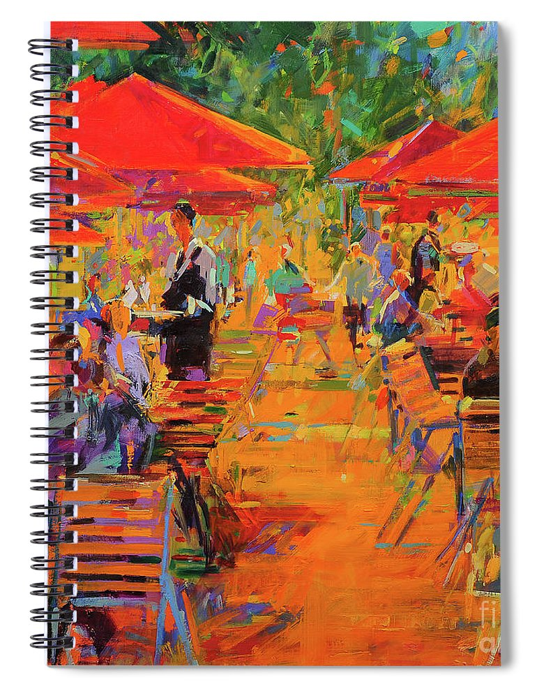 Restaurant Spiral Notebook featuring the painting Le Jardin Des Tuileries by Peter Graham