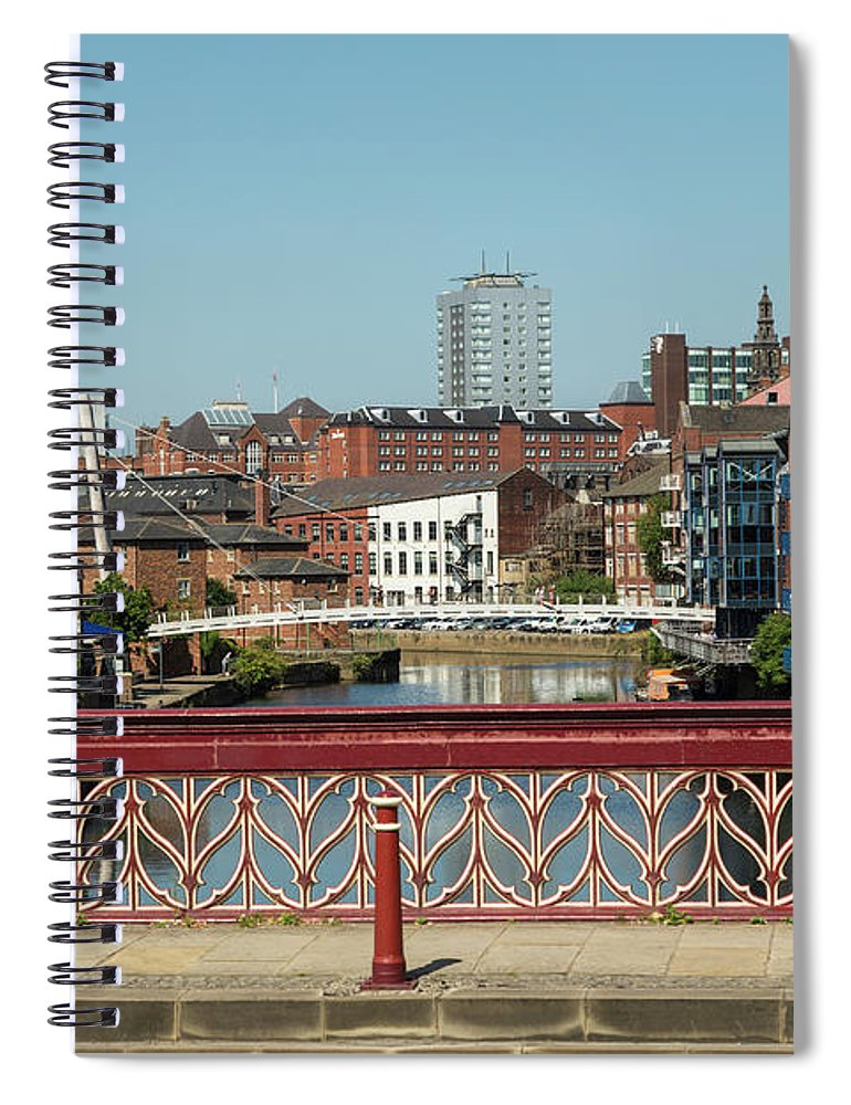 English Culture Spiral Notebook featuring the photograph Leeds Waterfront Developments by P A Thompson