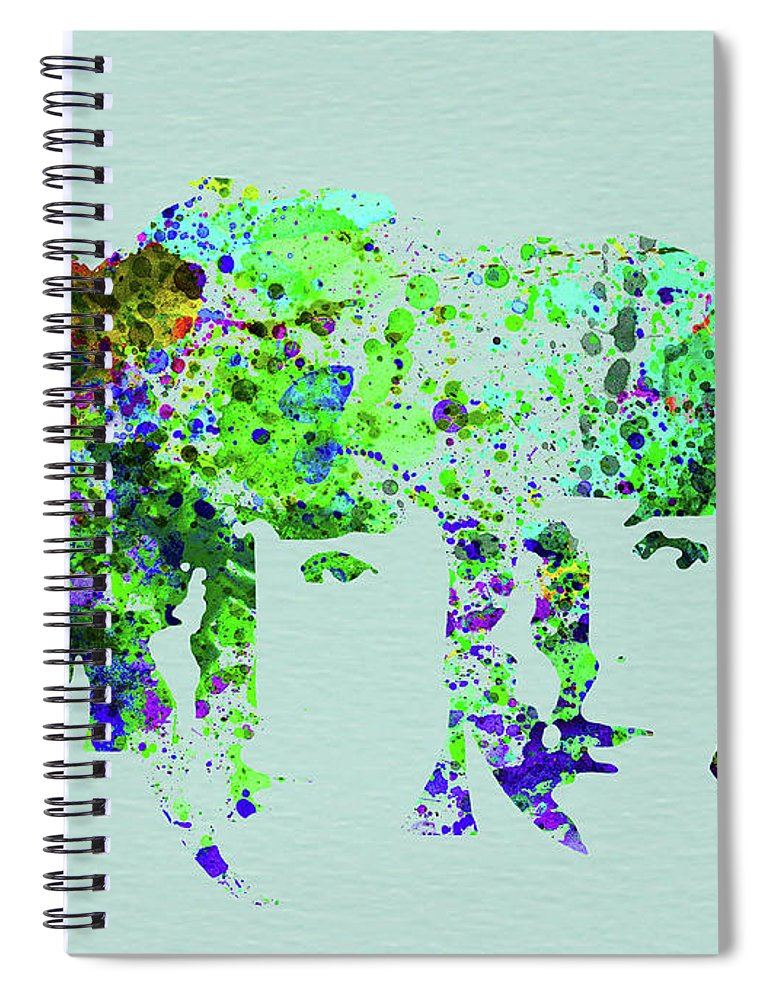 Beatles Spiral Notebook featuring the mixed media Legendary Beetles Watercolor II by Naxart Studio