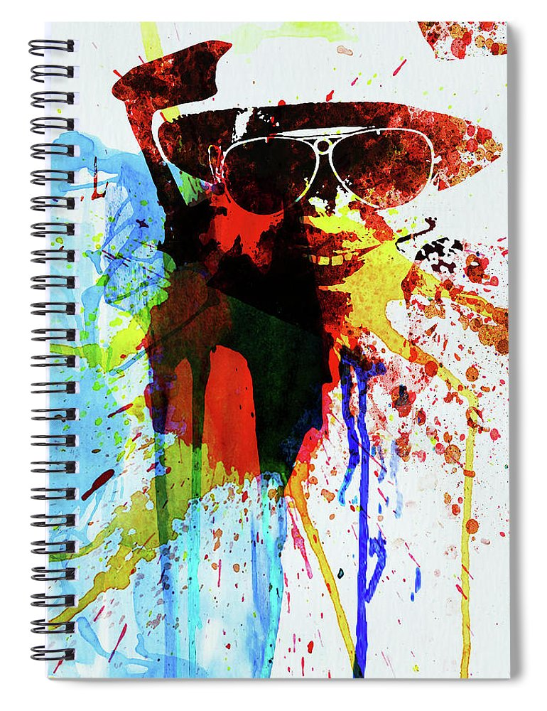 Johnny Depp Spiral Notebook featuring the photograph Legendary Fear And Loathing Watercolor by Naxart Studio