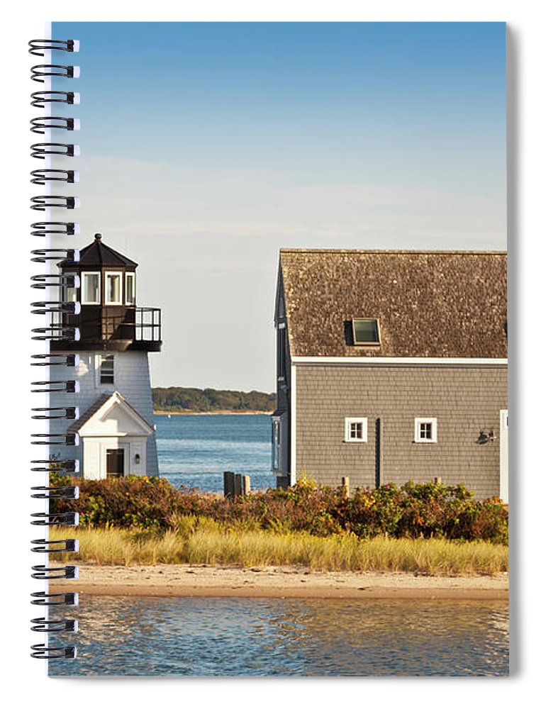 Grass Spiral Notebook featuring the photograph Lewis Bay Lighthouse, Hyannis, Cape by Olegalbinsky
