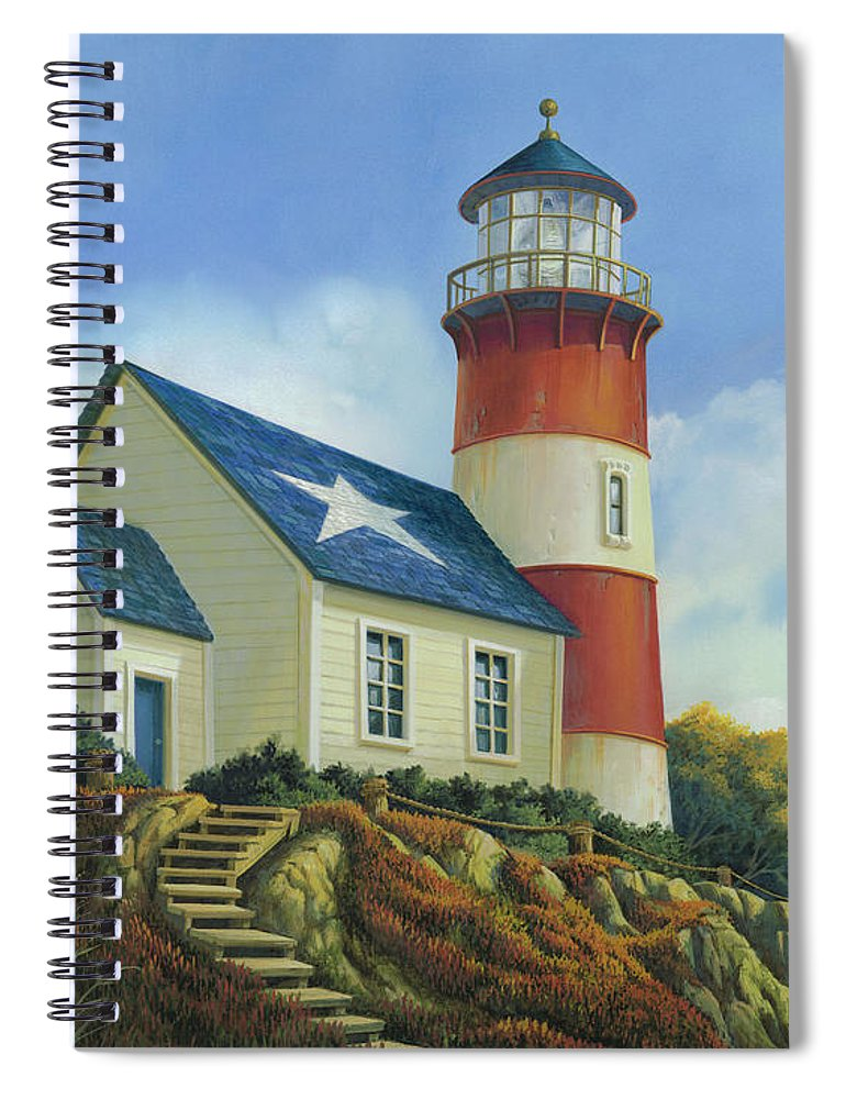 Michael Humphries Spiral Notebook featuring the painting Liberty's Light by Michael Humphries