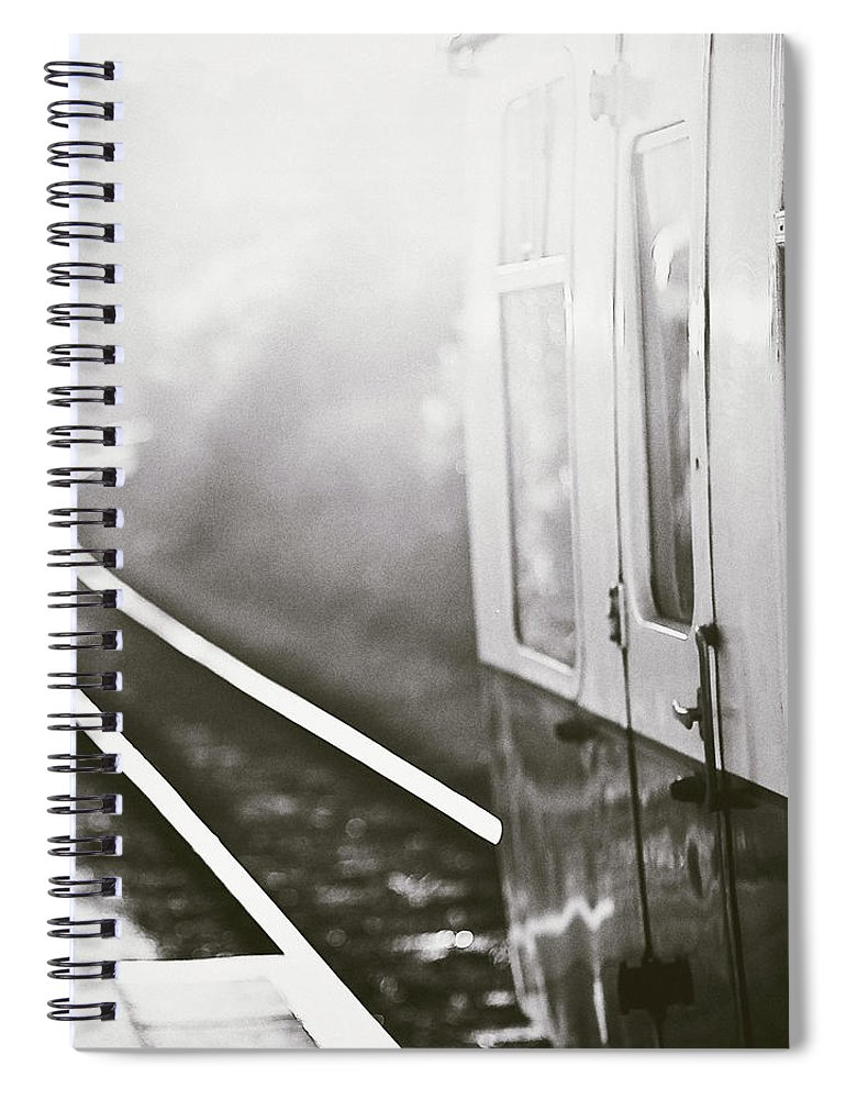 Train Spiral Notebook featuring the photograph Long Train Running by James Homer