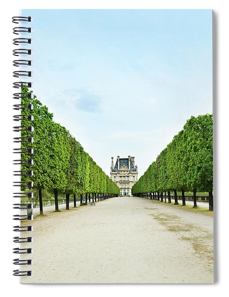 Scenics Spiral Notebook featuring the photograph Louvre In Paris by Nikada