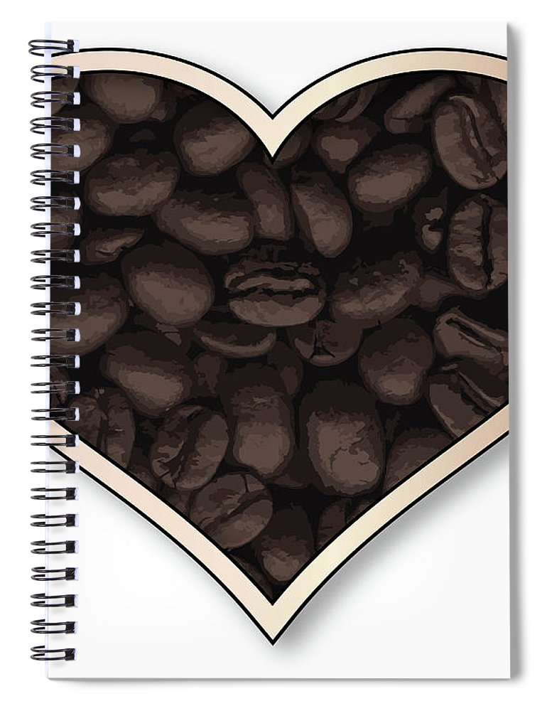 Love Spiral Notebook featuring the digital art Love Coffee by Bigalbaloo Stock