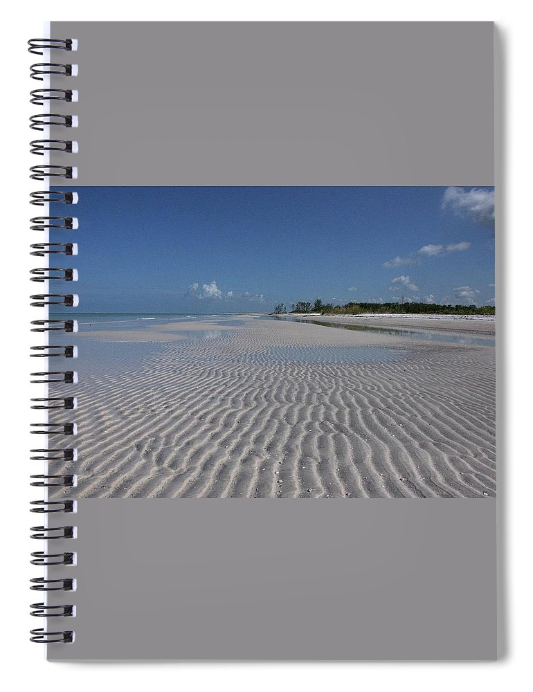 Beach Spiral Notebook featuring the photograph Lowtide Ripples by Eagle Finegan