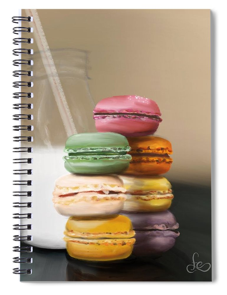 Macaroons Spiral Notebook featuring the pastel Macaroons by Fe Jones