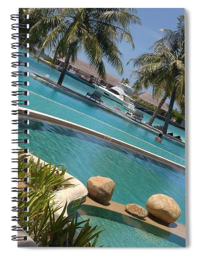 Water Spiral Notebook featuring the photograph Maldivies by Aswini Moraikat Surendran