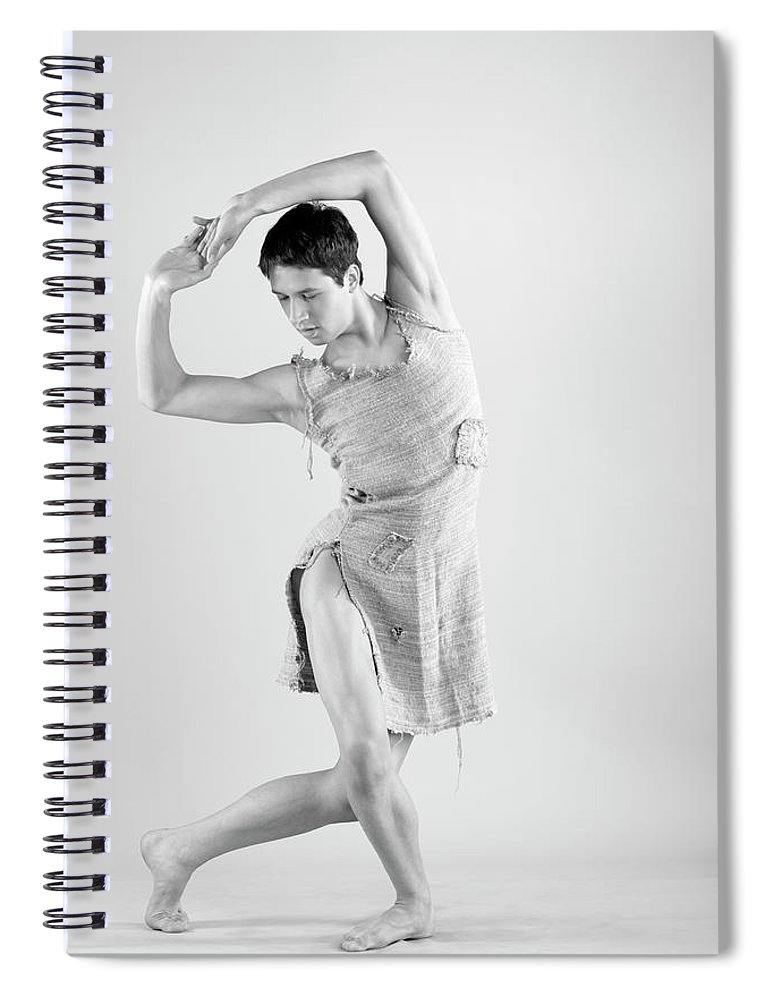 Ballet Dancer Spiral Notebook featuring the photograph Man Dance by Oleg66