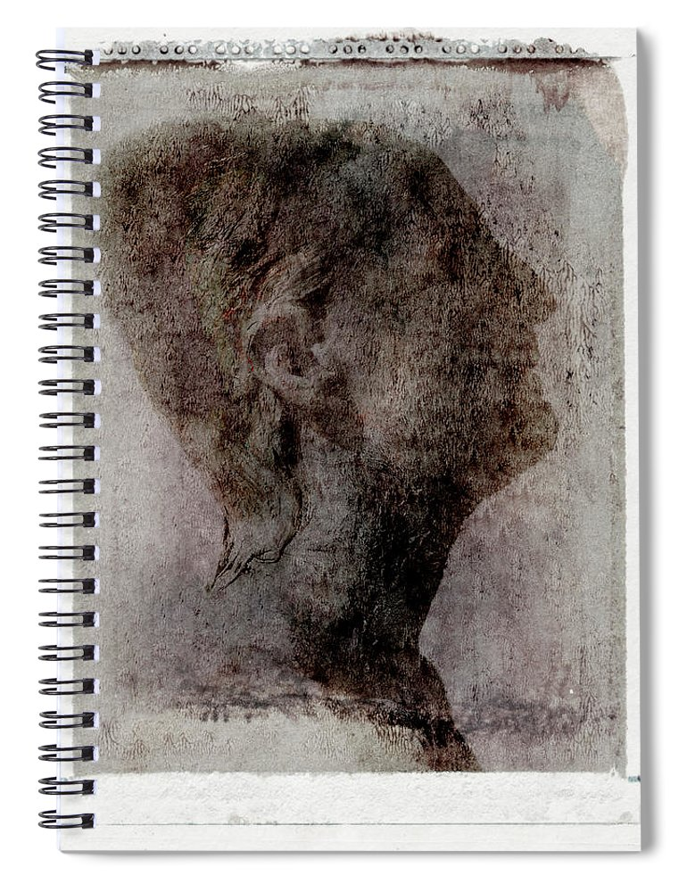 Mature Adult Spiral Notebook featuring the photograph Man Looking Up, Side View by Win-initiative