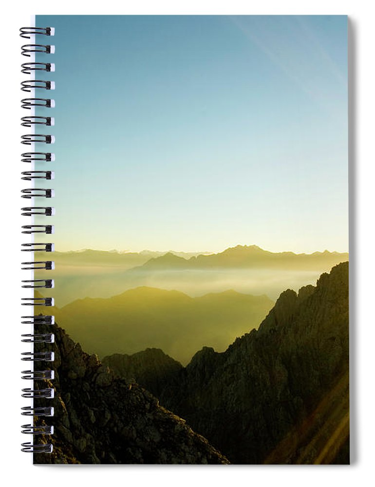 Dawn Spiral Notebook featuring the photograph Man by Lopurice