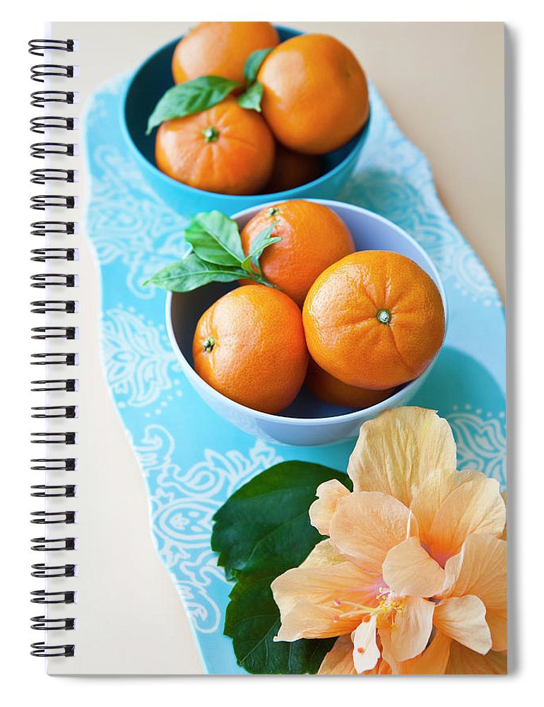 Florida Spiral Notebook featuring the photograph Mandarin Oranges On A Platter by Pam Mclean
