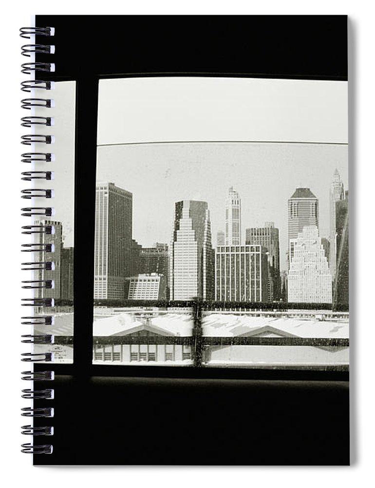 Car Interior Spiral Notebook featuring the photograph Manhattan Through Car Window by Matt Carr