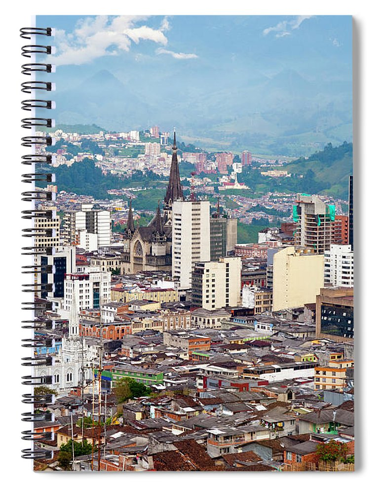 Built Structure Spiral Notebook featuring the photograph Manizales City View, Colombia by Holgs
