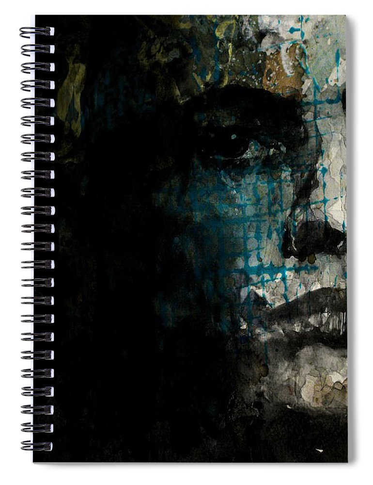 Marlon Brando Spiral Notebook featuring the painting Marlon Brando - On The Waterfront by Paul Lovering
