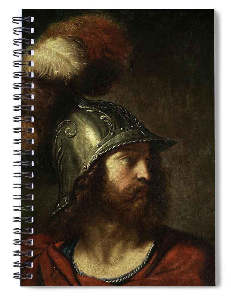 Mars Spiral Notebook featuring the painting Mars by Bolognese School of the 18th century