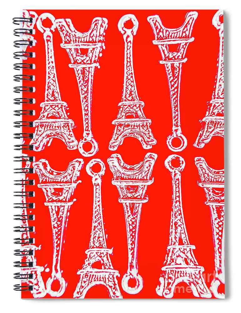 Europe Spiral Notebook featuring the photograph Match Made In Paris by Jorgo Photography - Wall Art Gallery