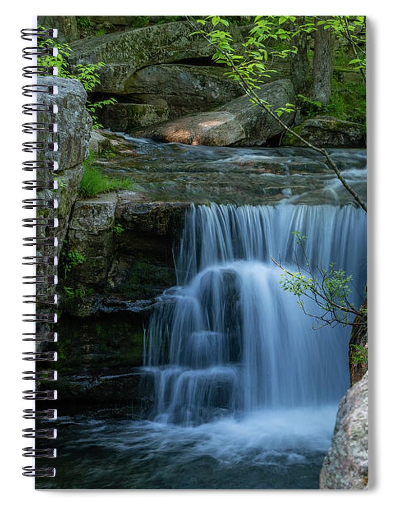 Coxing Kill Spiral Notebook featuring the photograph May Morning At Split Rock II by Jeff Severson