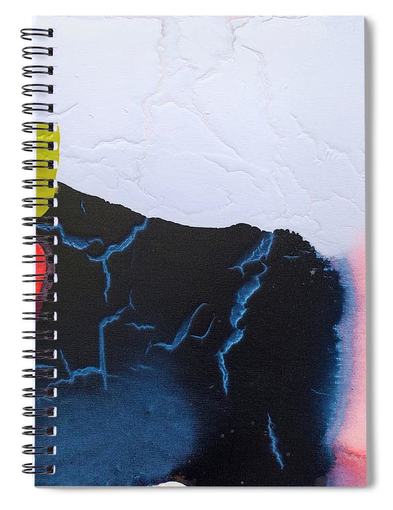 Abstract Spiral Notebook featuring the painting Maya 01 by Claire Desjardins