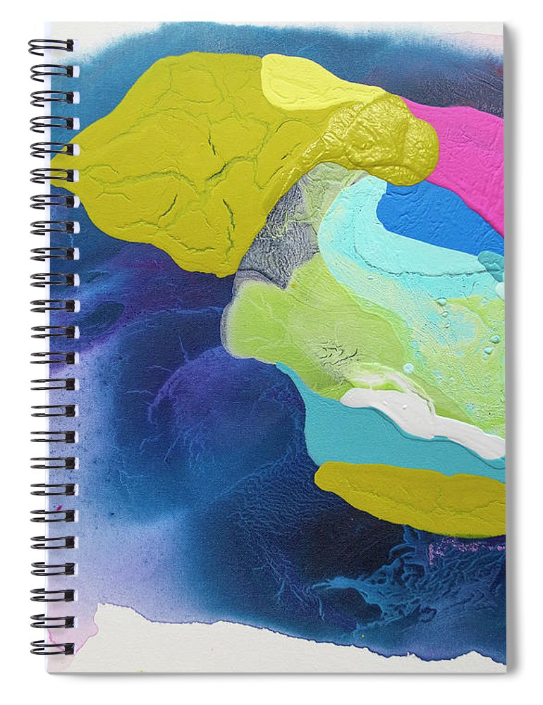 Abstract Spiral Notebook featuring the painting Maya 02 by Claire Desjardins