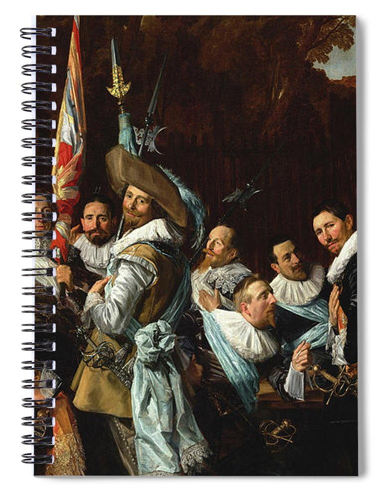 Frans Hals Spiral Notebook featuring the painting Meeting Of The Officers And Sergeants Of The St Adrian Civic Guard, The Calivermen, 1633 by Frans Hals