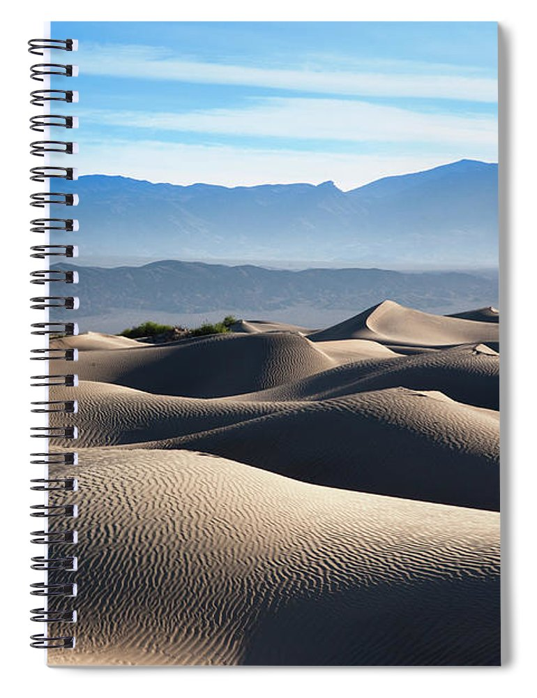 Scenics Spiral Notebook featuring the photograph Mesquite Flat Sand Dunes by Walter Bibikow