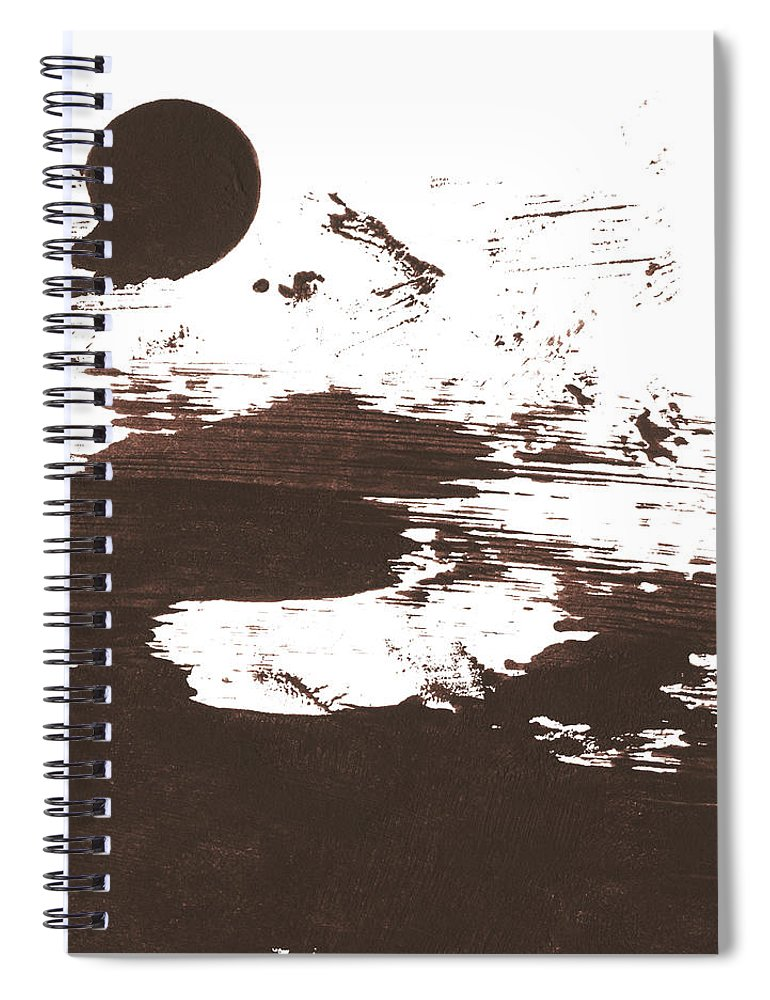 Stained Spiral Notebook featuring the photograph Messy Tan Brown Paint Mess by Kevinruss