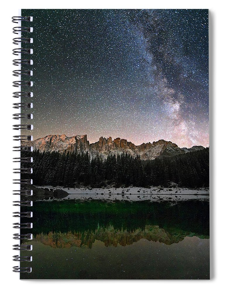 Scenics Spiral Notebook featuring the photograph Milky Way In The Alps by Scacciamosche