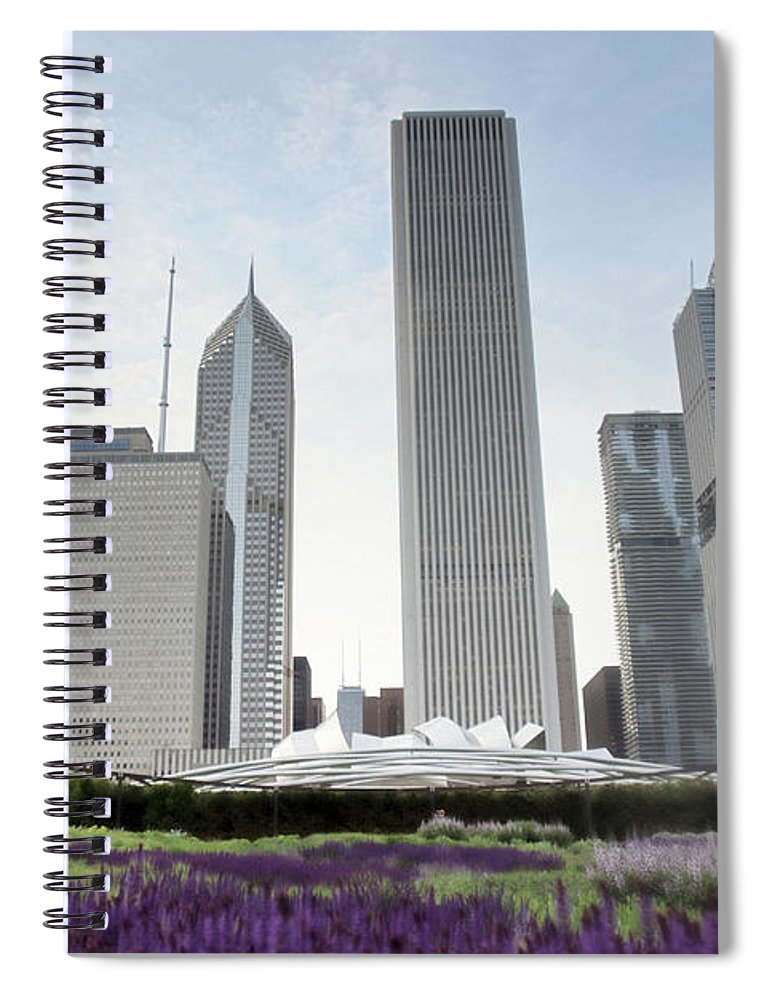Millennium Park Spiral Notebook featuring the photograph Millennium Park by By Ken Ilio