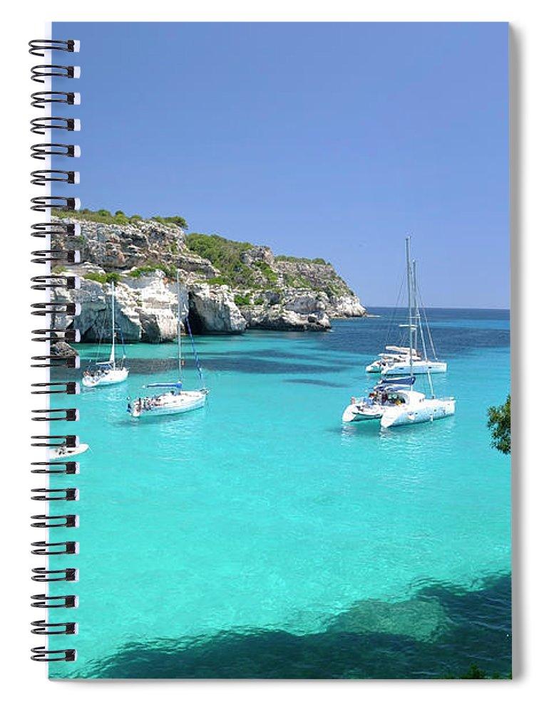 Scenics Spiral Notebook featuring the photograph Minorca, Cala Macarella by Stefano Salvetti