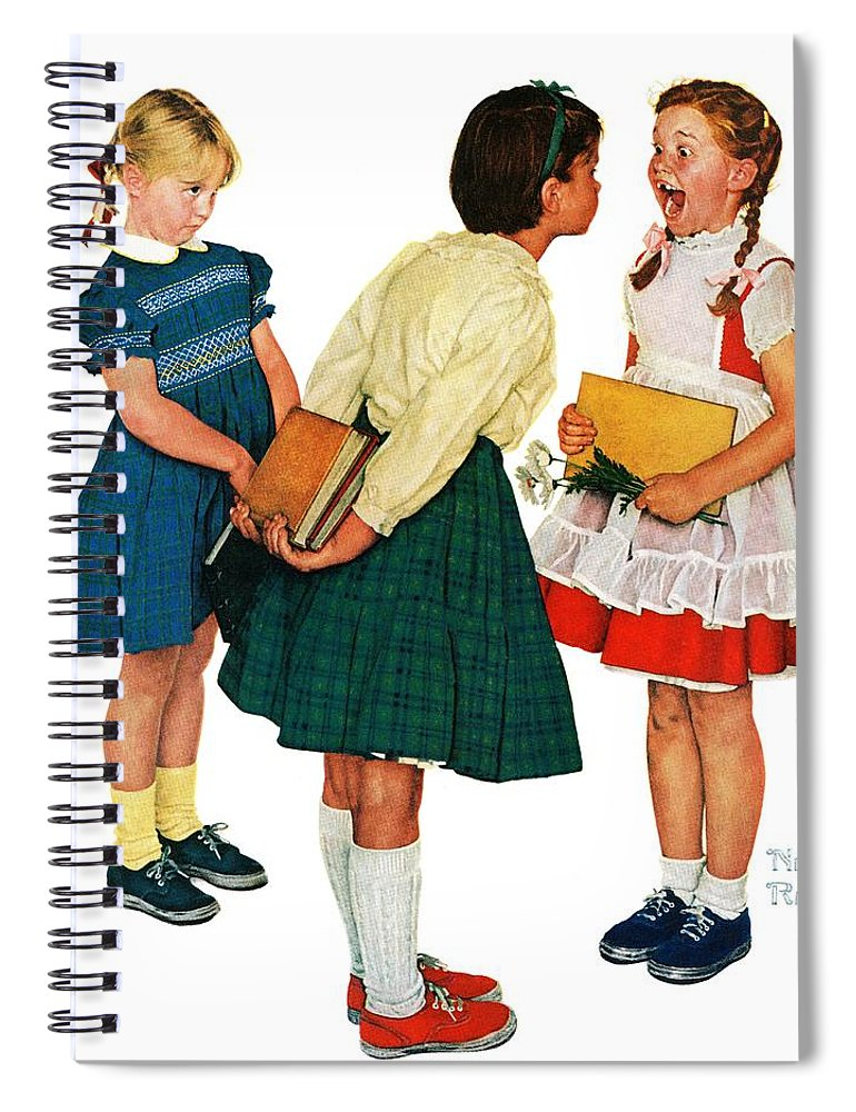 Books Spiral Notebook featuring the drawing Missing Tooth by Norman Rockwell