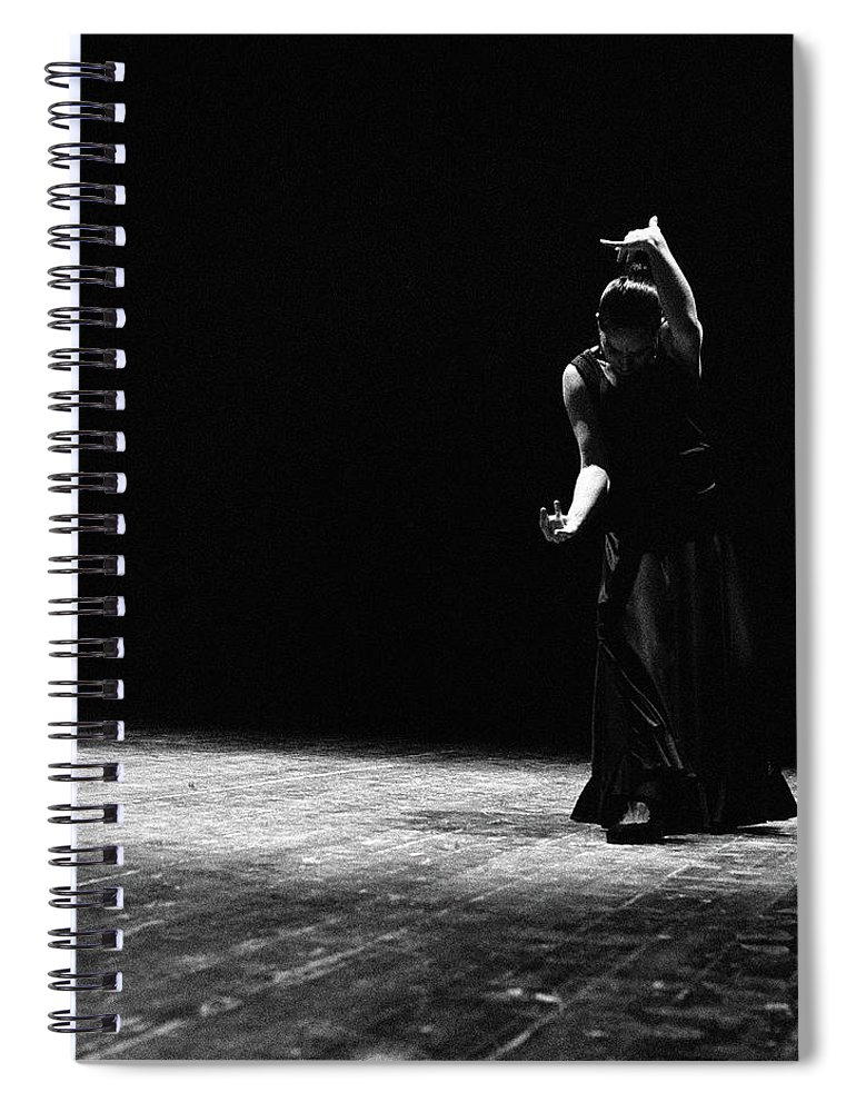 Ballet Dancer Spiral Notebook featuring the photograph Modern Flamenco by T-immagini